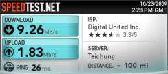 頻寬上下載測試_無線網路802.11n_20091023