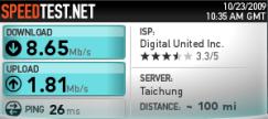 頻寬上下載測試_無線網路_20091023